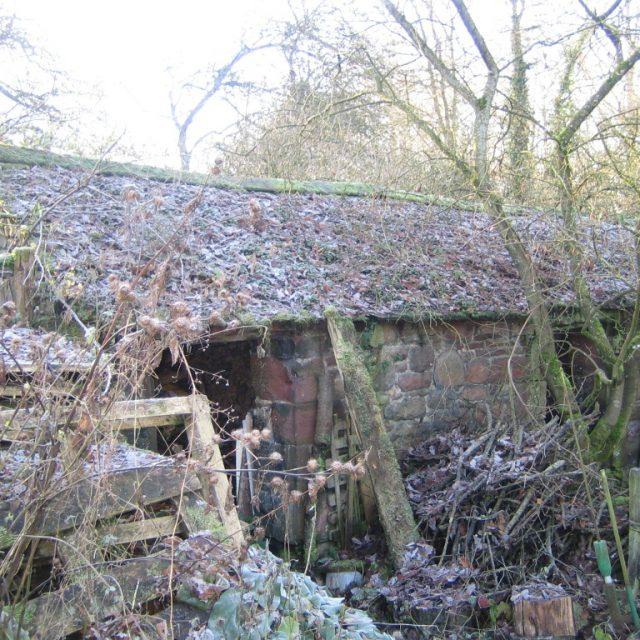 acorn bank barn before works began